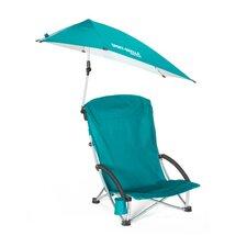 Beach Chair with Swivel Umbrella