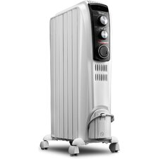 1,500 Watt Portable Electric Radiant Radiator Heater with Mechanical Controls