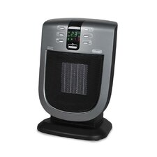 1,500 Watt Portable Electric Fan Compact Heater with Remote Control