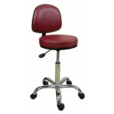 Height Adjustable Professional Stool with Backrest