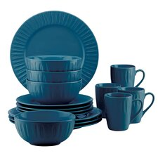 The Burbs Carved Medium 16 Piece Dinnerware Set