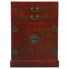 Handmade Oriental Antique 9 Bottle Floor Wine Cabinet