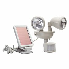 Solar Dual Head Security LED Spot Light