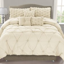 Cosmo 6 Piece Smocked Comforter Set