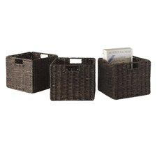 Granville Corn Husk Foldable Basket (Set of 3)