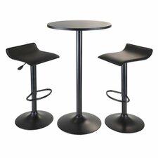 Obsidian 3 Piece Pub Table Set