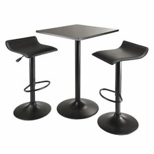 Obsidian 3 Piece Counter Height Pub Table Set