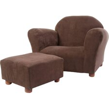 Roundy Kids Club Chair and Ottoman