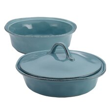 Cucina 3 Piece Stoneware Round Casserole Set