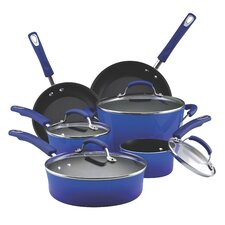 Hard Enamel Non-Stick 10 Piece Cookware Set