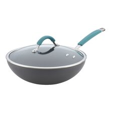 """Cucina 11"""" Non-Stick Wok with Lid"""