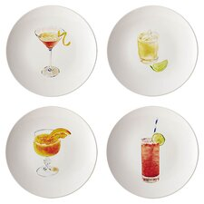 """Rachel Ray Dinnerware Cocktails 8.25"""" Party Plate (Set of 4)"""