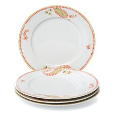 "Paisley 10.5"" Dinner Plate 4 Piece Set (Set of 4)"