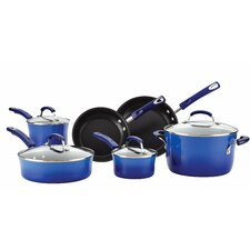 10 Piece Non-Stick Blue Cookware Set