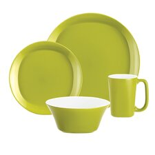 Round & Square Dinnerware 4 Piece Place Setting Set