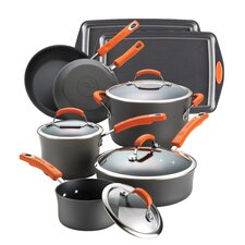 Hard Anodized Non-Stick 12 Piece Cookware Set
