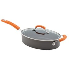 Hard-Anodized II Dishwasher Safe Nonstick 3 Qt. Saute Pan with Lid