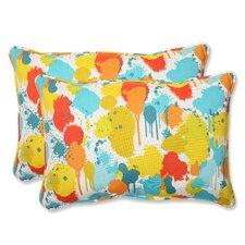 Paint Splash Indoor/Outdoor Throw Pillow (Set of 2)