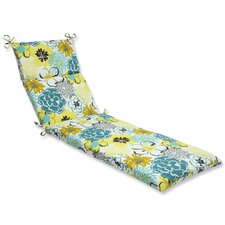 Floral Fantasy Outdoor Chaise Lounge Cushion