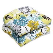 Floral Fantasy Outdoor Dining Chair Cushion (Set of 2)