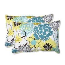 Floral Fantasy Indoor/Outdoor Throw Pillow (Set of 2)