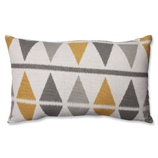 Ikat Argyle Birch Cotton Lumbar Pillow