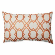 Forget Me Knots Tangerine Throw Pillow