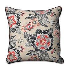 Tilt and Twirl Ebony Outdoor/Indoor Floor Pillow