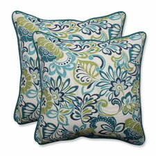 Zoe Mallard Indoor/Outdoor Throw Pillow (Set of 2)