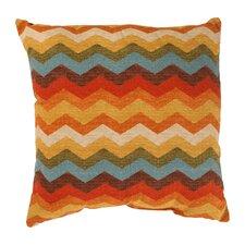 Panama Wave Cotton Throw Pillow