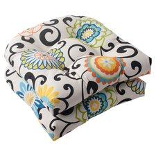 Pom Pom Outdoor Seat Cushion (Set of 2)