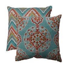 Mirage and Chevron Throw Pillow (Set of 2)