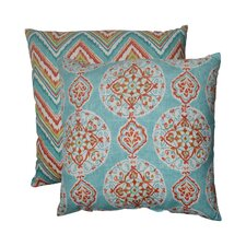 Mirage and Chevron Floor Pillow (Set of 2)