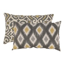 Damask and Rodrigo Cotton Lumbar Pillows (Set of 2)