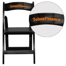 Hercules Series Personalized Wood Folding Chair with Vinyl Padded Seat