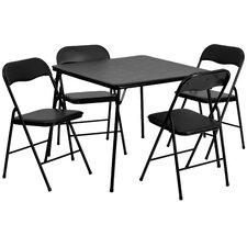 "5 Piece 33.5"" Square Folding Table Set"