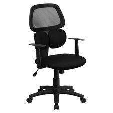 Mid-Back Mesh Chair with Flexible Dual Lumbar Support