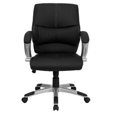 Leather Office Executive Chair with Stitching