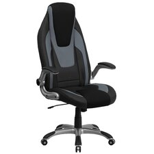 High-Back Mesh Executive Chair with Flip Up Arms