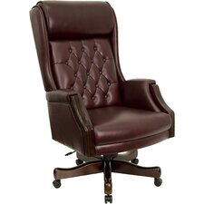 High-Back Leather Executive Office Chair