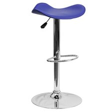 Contemporary Adjustable Height Swivel Bar Stool (Set of 2)