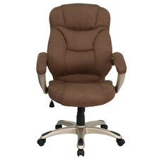 High-Back Microfiber Upholstered Executive Chair
