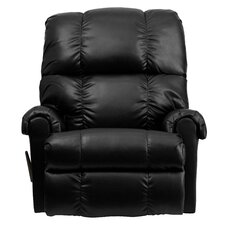 Contemporary Leather Rocker Recliner