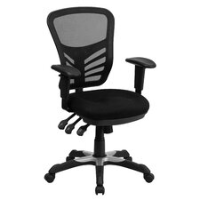 Mid Back Mesh Office Chair with Triple Paddle Control