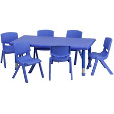 7 Piece Rectangular Activity Table