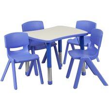 5 Piece Rectangular Activity Table (Set of 2)