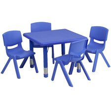 5 Piece Square Activity Table & Chair Set