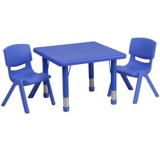 3 Piece Square Activity Table & Chair Set