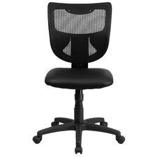 Mid-Back Conference Chair with Padded Leather Seat