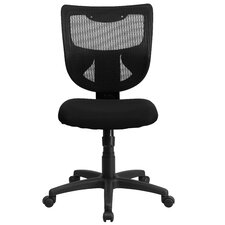 Mid-Back Conference Chair with Padded Fabric Seat